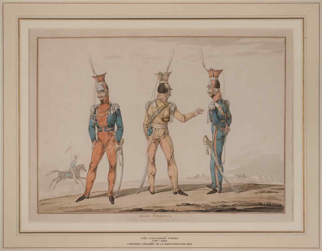 Noël Finart, Uniformi sui Lancers francesi