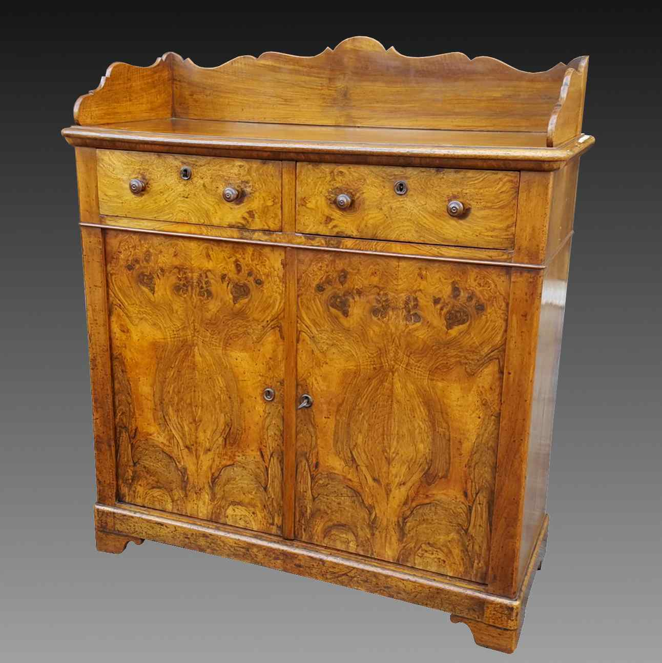 Antique Louis Philippe Sideboard Buffet in walnut - 19th