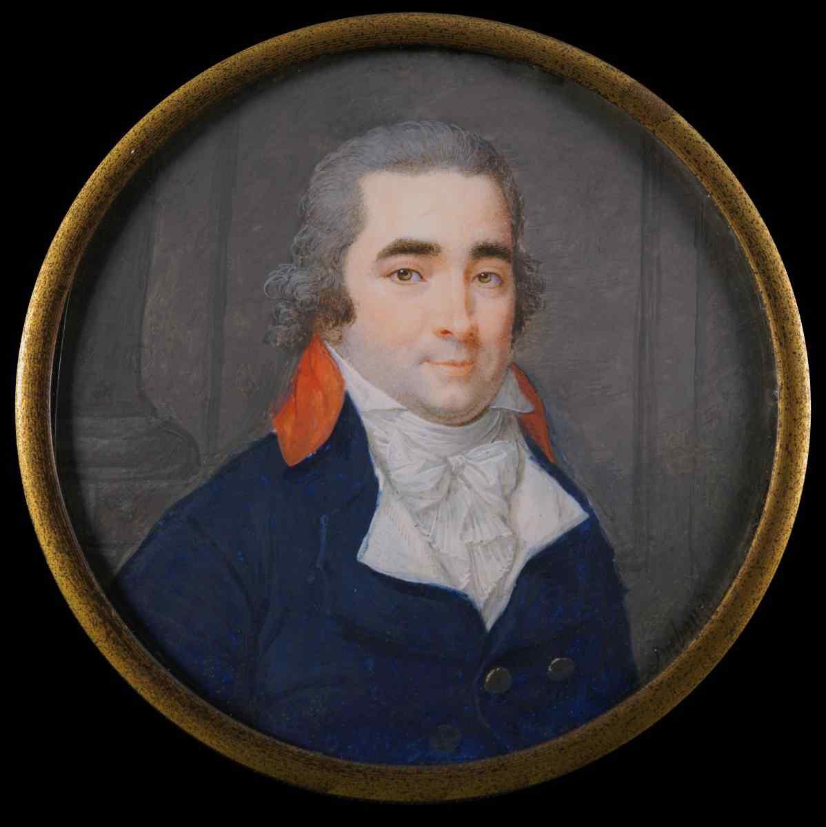 Dubourg, Ritratto di un giovane, in miniatura