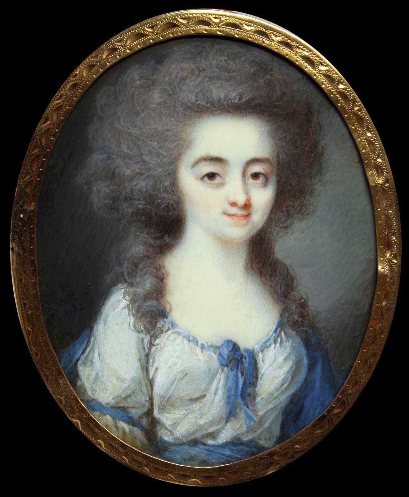 Dubourg, Ritratto di una giovane donna, miniatura