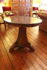 Empire Pedestal Table With Marble Orign-3