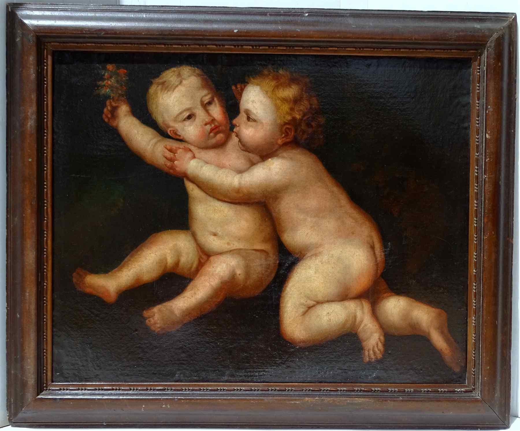 Jean-Battista e Gesù Scuola bolognese 17 °