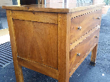 Antique Commode Chest of drawers in walnut - Italy 19th cent-9