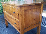 Antique Commode Chest of drawers in walnut - Italy 19th cent-10