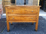 Antique Commode Chest of drawers in walnut - Italy 19th cent-2