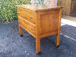 Antique Commode Chest of drawers in walnut - Italy 19th cent-4