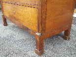 Antique Empire Commode Chest of drawers in walnut-Italy 19th-12