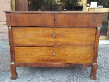 Antique Empire Commode Chest of drawers in walnut-Italy 19th-1