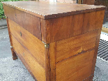 Antique Empire Commode Chest of drawers in walnut-Italy 19th-10