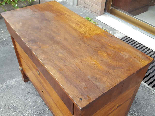 Antique Empire Commode Chest of drawers in walnut-Italy 19th-8