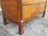 Antique Empire Commode Chest of drawers in walnut-Italy 19th-11