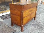 Antique Empire Commode Chest of drawers in walnut-Italy 19th-3