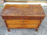 Antique Empire Commode Chest of drawers in walnut-Italy 19th-13