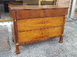 Antique Empire Commode Chest of drawers in walnut-Italy 19th-2
