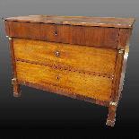 Antique Empire Commode Chest of drawers in walnut-Italy 19th-18