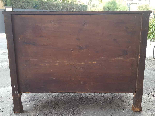 Antique Empire Commode Chest of drawers in walnut-Italy 19th-17