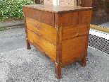Antique Empire Commode Chest of drawers in walnut-Italy 19th-4