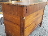 Antique Empire Commode Chest of drawers in walnut-Italy 19th-9