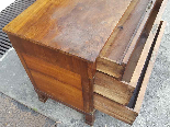 Antique Empire Commode Chest of drawers in walnut-Italy 19th-14