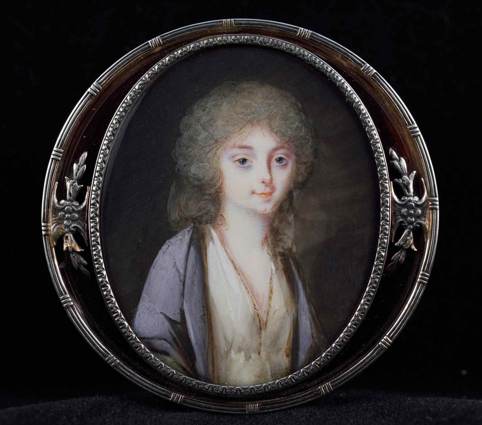 Romany, portrait de la marquise de Bonneval, miniature