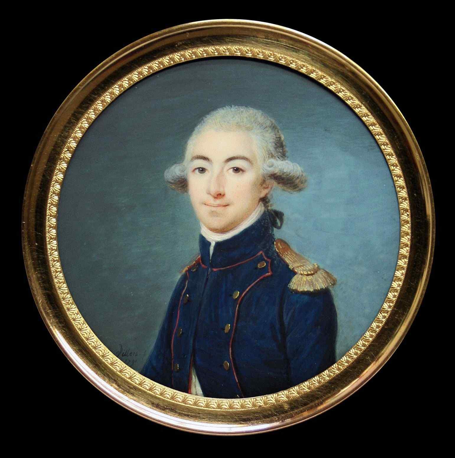 Villers, Ritratto di un giovane ufficiale, miniatura