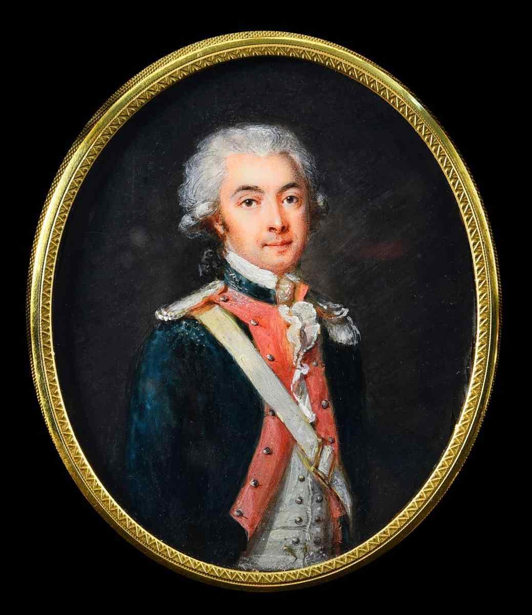 Joseph Tassy, ??Portrait d'un jeune officier, miniature