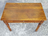 Antique Louis Philippe Table desk in walnut - Italy 19th-6