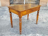 Antique Louis Philippe Table desk in walnut - Italy 19th-2