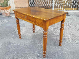 Antique Louis Philippe Table desk in walnut - Italy 19th-3