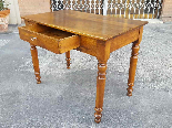 Antique Louis Philippe Table desk in walnut - Italy 19th-5