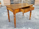 Antique Louis Philippe Table desk in walnut - Italy 19th-4