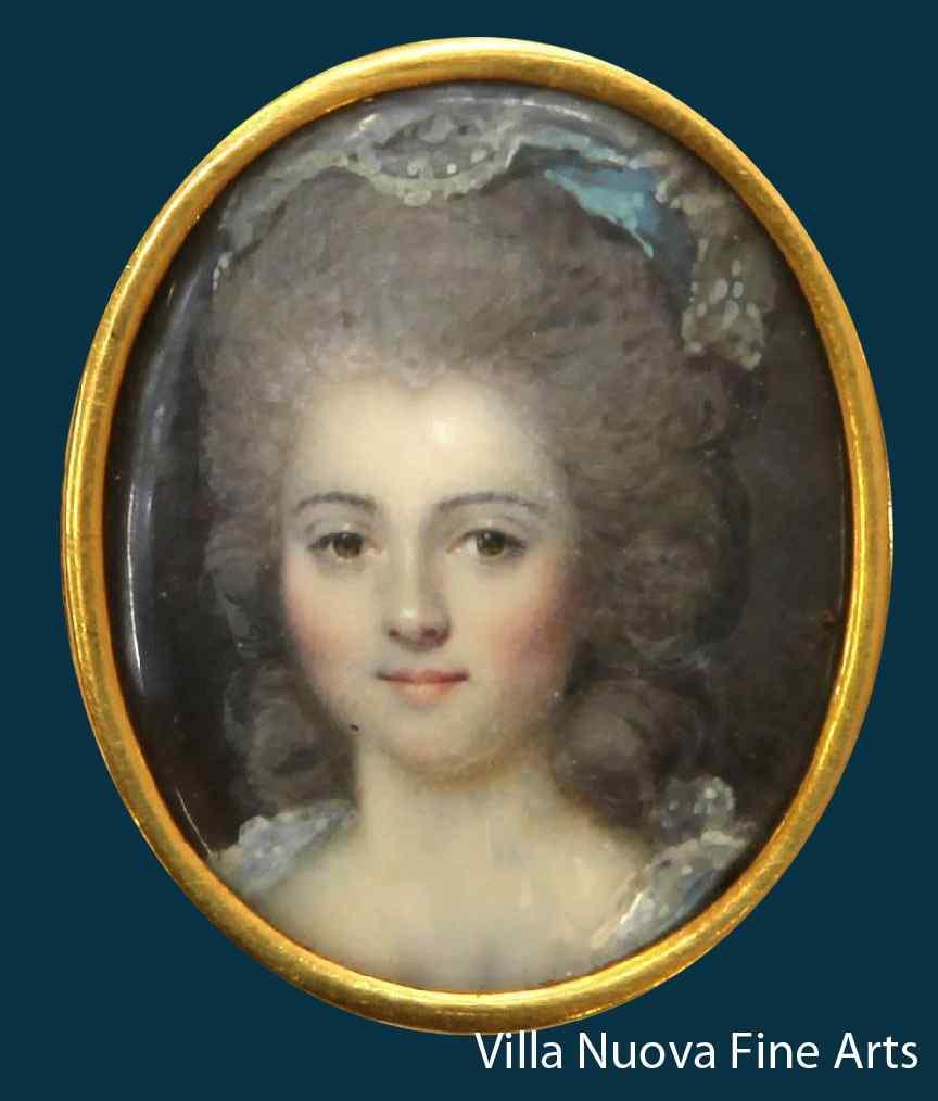 Dumont, Portrait de M-me Emar Lestorey, miniature
