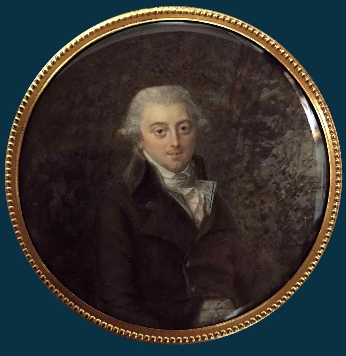 Perin-Salbreux, Portrait d'un homme, miniature