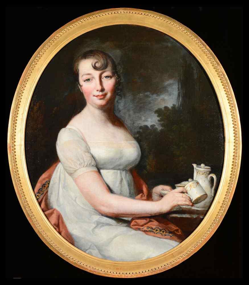Daniche, Portrait of a Lady Taking Tea