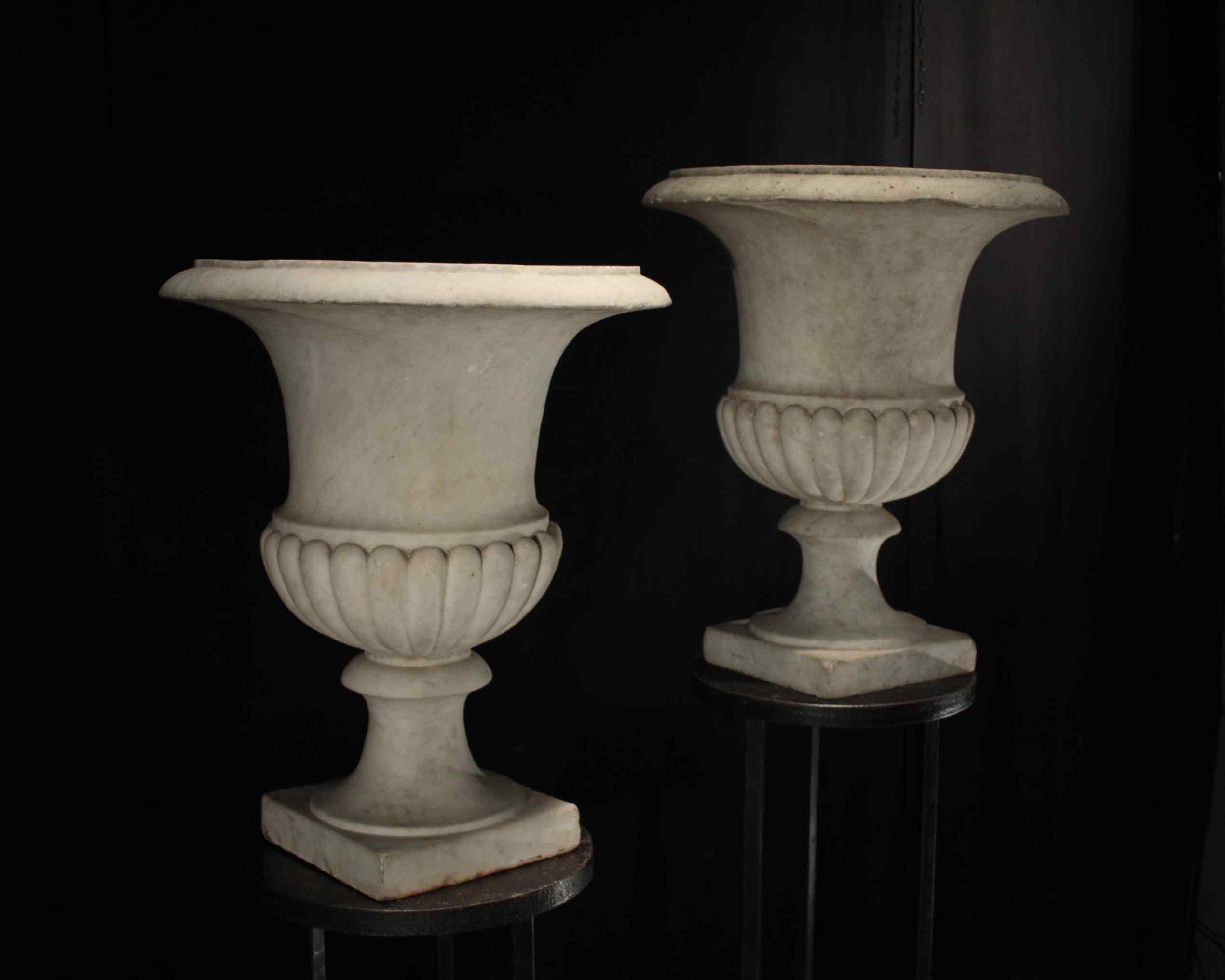 Pair of marble vases, Louis XVI
