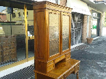 Antique Louis Philippe Desk Bookcase Bureau in walnut - 19th-11
