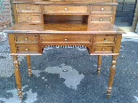 Antique Louis Philippe Desk Bookcase Bureau in walnut - 19th-14