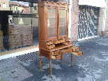 Antique Louis Philippe Desk Bookcase Bureau in walnut - 19th-4
