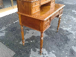 Antique Louis Philippe Desk Bookcase Bureau in walnut - 19th-15