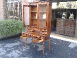 Antique Louis Philippe Desk Bookcase Bureau in walnut - 19th-9