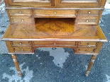 Antique Louis Philippe Desk Bookcase Bureau in walnut - 19th-17