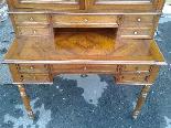 Antique Louis Philippe Desk Bookcase Bureau in walnut - 19th-17