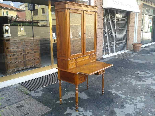 Antique Louis Philippe Desk Bookcase Bureau in walnut - 19th-2
