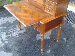 Antique Louis Philippe Desk Bookcase Bureau in walnut - 19th-16