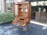 Antique Louis Philippe Desk Bookcase Bureau in walnut - 19th-8