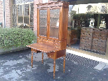 Antique Louis Philippe Desk Bookcase Bureau in walnut - 19th-3