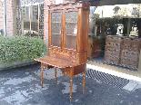 Antique Louis Philippe Desk Bookcase Bureau in walnut - 19th-3