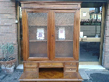 Antique Louis Philippe Desk Bookcase Bureau in walnut - 19th-13