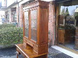 Antique Louis Philippe Desk Bookcase Bureau in walnut - 19th-12