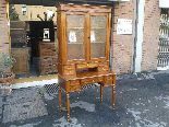 Antique Louis Philippe Desk Bookcase Bureau in walnut - 19th-1
